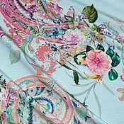 """Ткани ручной работы. Ярмарка Мастеров - ручная работа Минус 30% Трикотаж """" Пейсли и цветы"""". Handmade."""