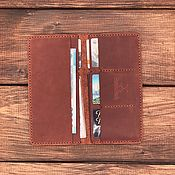 Сумки и аксессуары handmade. Livemaster - original item Genuine leather wallet London. Handmade.