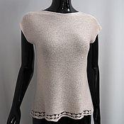 Одежда handmade. Livemaster - original item Knitted top with sequins. Handmade.