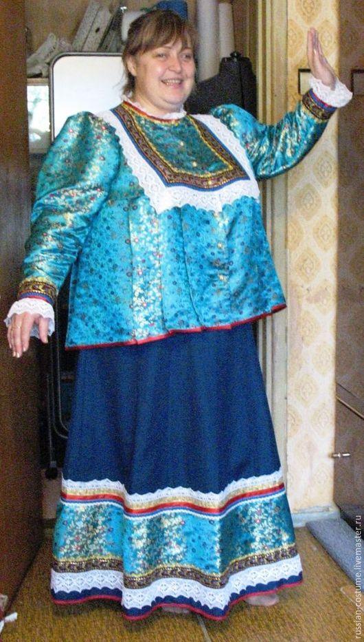 Одежда ручной работы. Ярмарка Мастеров - ручная работа. Купить Женский казачий костюм для фактурных женщин. Handmade. Казачий костюм
