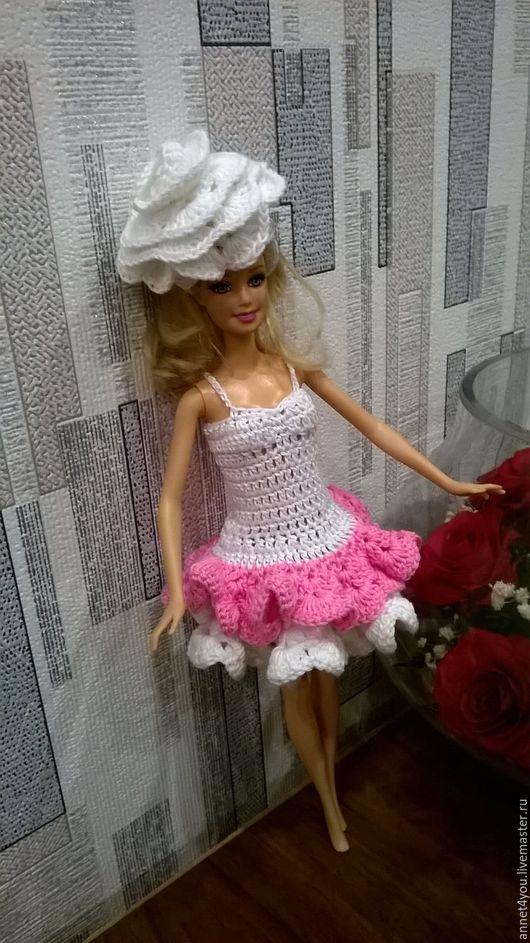 """Одежда для кукол ручной работы. Ярмарка Мастеров - ручная работа. Купить """"КАРНАВАЛ"""" платье и шляпка. Handmade. Белый, кукла"""