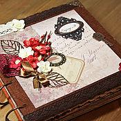 """Канцелярские товары ручной работы. Ярмарка Мастеров - ручная работа Фотоальбом """"Enjoy It"""" (коричневый, бежевый, семейный, подарок). Handmade."""