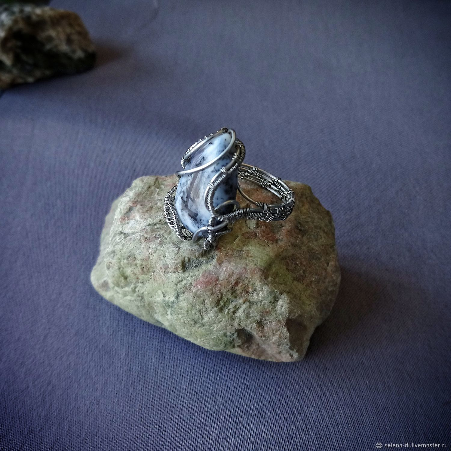 Dendrite agate ring wire wrap, Rings, Bratsk,  Фото №1