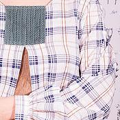 Одежда ручной работы. Ярмарка Мастеров - ручная работа Блузка бохо из хлопка, льна и вельвета. Handmade.