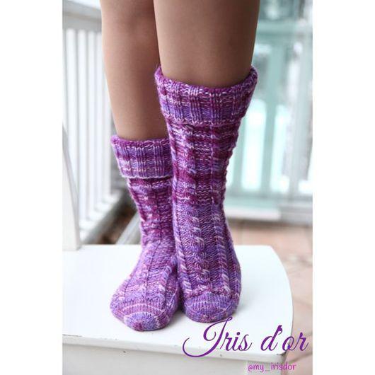 Носки, Чулки ручной работы. Ярмарка Мастеров - ручная работа. Купить Носки вязаные высокие. Handmade. Носки, носки вязаные