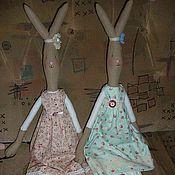 Куклы и игрушки ручной работы. Ярмарка Мастеров - ручная работа Большой худой зайка. Handmade.
