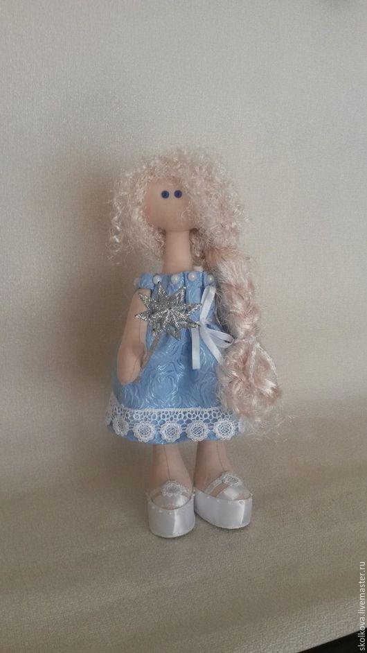 Коллекционные куклы ручной работы. Ярмарка Мастеров - ручная работа. Купить кукла снежка - Зимняя фея. Handmade. Комбинированный, хлопок