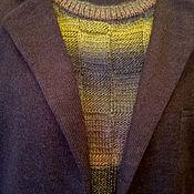 Одежда ручной работы. Ярмарка Мастеров - ручная работа Свитер мужской вязаный Современный хакки. Handmade.