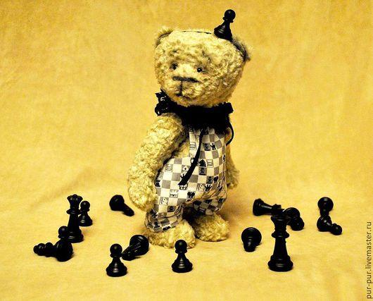 Мишки Тедди ручной работы. Ярмарка Мастеров - ручная работа. Купить Пешечкин. Handmade. Чёрно-белый, мишки, вискоза