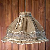 Для дома и интерьера handmade. Livemaster - original item Lampshades and ceiling lamps: Hanging lamp made of jute Lampshade Country style. Handmade.