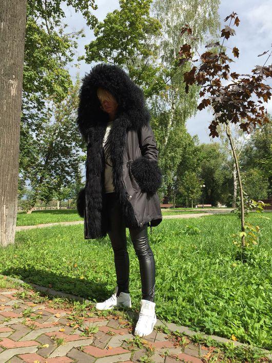 """Верхняя одежда ручной работы. Ярмарка Мастеров - ручная работа. Купить Куртка-парка """" Черная ночь """". Handmade."""