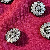 Материалы для творчества handmade. Livemaster - original item Buttons with Czech crystals. Adella. Handmade.