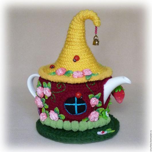 """Кухня ручной работы. Ярмарка Мастеров - ручная работа. Купить Грелка на чайник """"Розовый куст 2"""". Handmade. Грелка на чайник"""