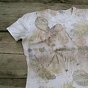 """Одежда ручной работы. Ярмарка Мастеров - ручная работа Футболка """"За туманом..."""" , эко принт. Handmade."""