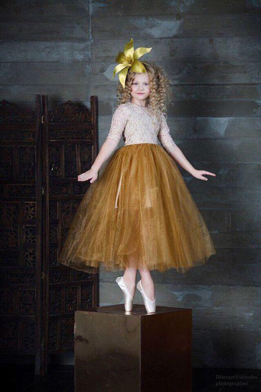 """Одежда для девочек, ручной работы. Ярмарка Мастеров - ручная работа. Купить Платье для девочки """"Golden"""". Handmade. Yansonsdomik, платье в пол"""