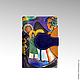 """Кошельки и визитницы ручной работы. Ярмарка Мастеров - ручная работа. Купить Обложка - портмоне """"Импровизация"""". Handmade. Разноцветный, ручная работа"""
