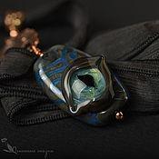 Pendants handmade. Livemaster - original item Pendant lampwork glass Eye of a curious dragon. Handmade.