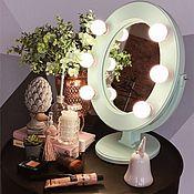 Для дома и интерьера ручной работы. Ярмарка Мастеров - ручная работа Мятное гримерное зеркало. Handmade.