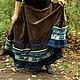 """Юбки ручной работы. Ярмарка Мастеров - ручная работа. Купить Вельветовая юбка """"История синего цветка"""". Handmade. Юбка"""