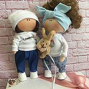 Куклы Тильда ручной работы. Ярмарка Мастеров - ручная работа Интерьерные Куколки (Мальчик,Девочка). Handmade.
