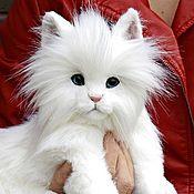 Куклы и игрушки ручной работы. Ярмарка Мастеров - ручная работа Белый котенок. Handmade.