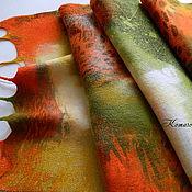"""Аксессуары ручной работы. Ярмарка Мастеров - ручная работа валяный палантин """"Весенний блюз"""",. Handmade."""