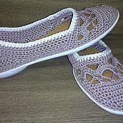 Обувь ручной работы. Ярмарка Мастеров - ручная работа Балетки Цвет Пудры. Handmade.