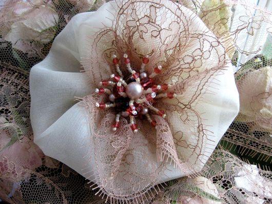 Свадебные украшения ручной работы. Ярмарка Мастеров - ручная работа. Купить Резинка для волос с коралловыми бусинами. Handmade. Резинка для воло