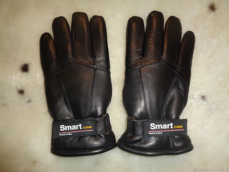 Мужские перчатки из  натуральной кожи и меха, Варежки, Нальчик, Фото №1