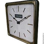 Для дома и интерьера handmade. Livemaster - original item A wall clock. White beech. Old gold. Four.. Handmade.