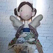 Куклы и игрушки ручной работы. Ярмарка Мастеров - ручная работа Интерьерная текстильная кукла Фейка чайная. Handmade.