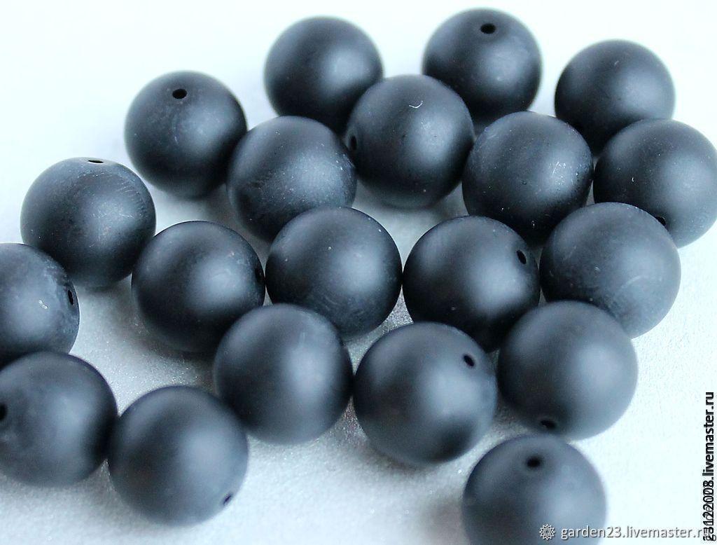 SHUNGITE smooth ball-12mm (136), Beads1, St. Petersburg,  Фото №1