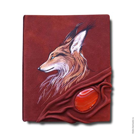"""Блокноты ручной работы. Ярмарка Мастеров - ручная работа. Купить Блокнот со сменным блоком """"Кицунэ"""". Handmade. Рыжий"""