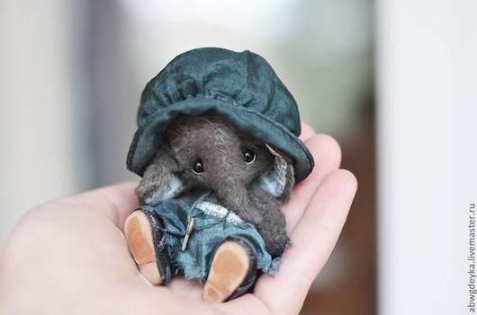 Мишки Тедди ручной работы. Ярмарка Мастеров - ручная работа. Купить Слоняшка Полин. Handmade. Слон, тедди, шёлк натуральный