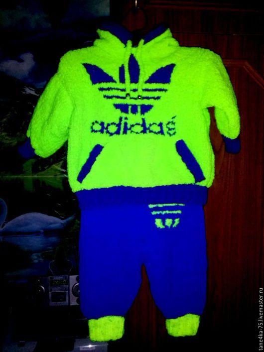 """Одежда для мальчиков, ручной работы. Ярмарка Мастеров - ручная работа. Купить костюмчик """" adidas"""". Handmade. Ярко-зелёный"""