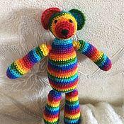 Куклы и игрушки ручной работы. Ярмарка Мастеров - ручная работа Радужная мышка. Handmade.