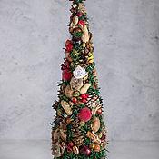 Елки ручной работы. Ярмарка Мастеров - ручная работа Новогодняя елка с красной звездой. Handmade.