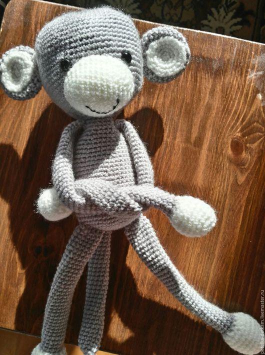 """Детская ручной работы. Ярмарка Мастеров - ручная работа. Купить Подхват для штор """"обезьянка"""". Handmade. Серый, обезьянка ручной работы"""