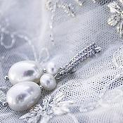 Украшения ручной работы. Ярмарка Мастеров - ручная работа Пресноводный жемчуг серьги свадебные бохо для невесты. Handmade.