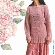 Одежда handmade. Livemaster - original item Women`s Dusty rose jumper, knitted, oversize, kid mohair. Handmade.