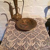 Винтаж handmade. Livemaster - original item Eco-friendly tablecloth on a small table ,handmade. Handmade.