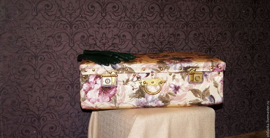 Чемоданы ручной работы. Ярмарка Мастеров - ручная работа. Купить Чемодан жаккардовый (2). Handmade. Чемодан, декор спальни