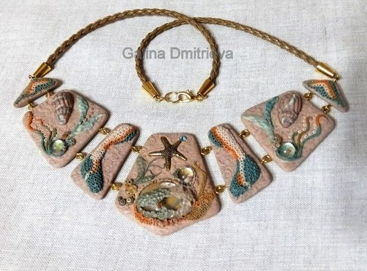 """Колье, бусы ручной работы. Ярмарка Мастеров - ручная работа. Купить Ожерелье """"Золотой песок"""". Handmade. Бежевый цвет"""