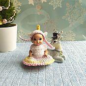 Одежда для кукол ручной работы. Ярмарка Мастеров - ручная работа Одежда для кукол: Комплект Единорожка для малыша Барби. Handmade.