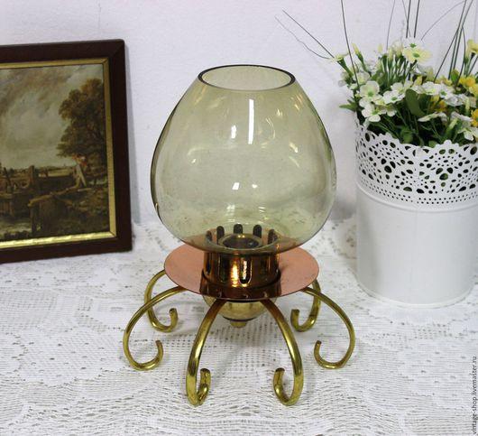 Винтажные предметы интерьера. Ярмарка Мастеров - ручная работа. Купить Винтажная лампа-подсвечник, медь, латунь. 70-е года. Handmade.