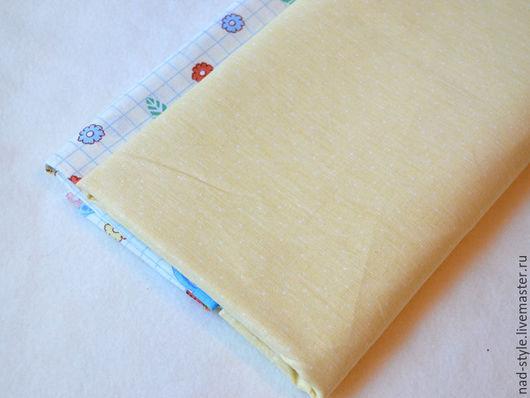 """Шитье ручной работы. Ярмарка Мастеров - ручная работа. Купить Ткань хлопковая """"Пшено желтое"""". Handmade. Желтый, ткань для пэчворка"""