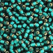 Бисер ручной работы. Ярмарка Мастеров - ручная работа Круглый 11/0 TOHO 27BDF-Blue Zircon Silver Lined Matte японский бисер. Handmade.