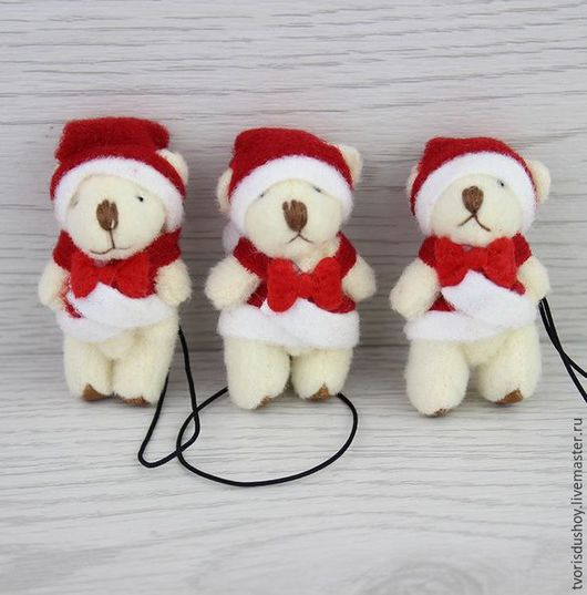 Другие виды рукоделия ручной работы. Ярмарка Мастеров - ручная работа. Купить Мишка мини Санта. Handmade. Мишка, миниатюра