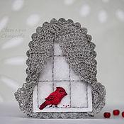 Украшения ручной работы. Ярмарка Мастеров - ручная работа Птичка красная. Брошь фетровая c вышивкой. Handmade.