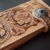 Сумки и аксессуары handmade. Livemaster - original item Personalized leather wallet, wallet, purse, personal purse. Handmade.
